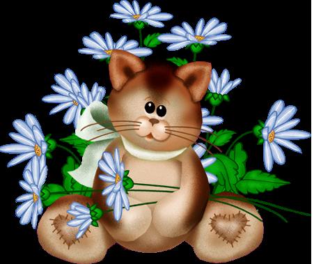 Открытка с нарисованными коты